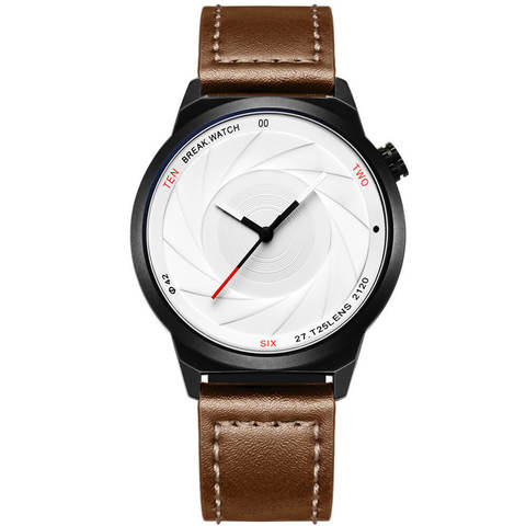 Zoom White Break Watches brown leather straps.jpg