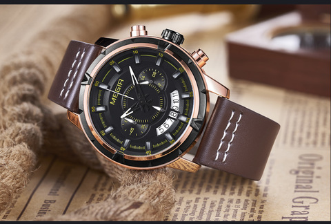 Cosmo Megir Watches Gold Case Brown Leather (1).jpg