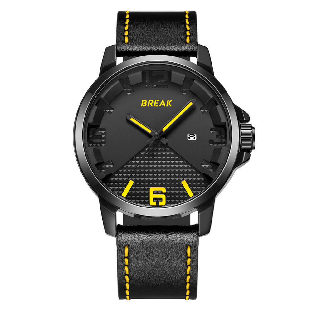 Loki Black Dial Yellow Pointer black leather.jpg