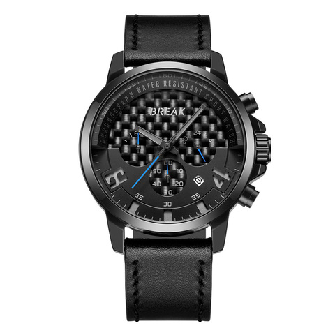 Loki Chrono Black Dial Blue Needle Black Leather.jpg