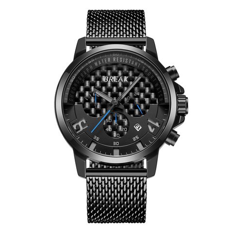 Loki Chrono Black Dial Blue Needle Black Steel.jpg