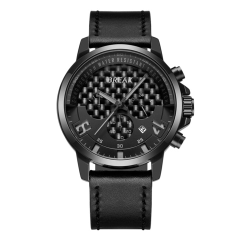 Loki Chrono Black Dial Grey Needle Black Leather.jpg