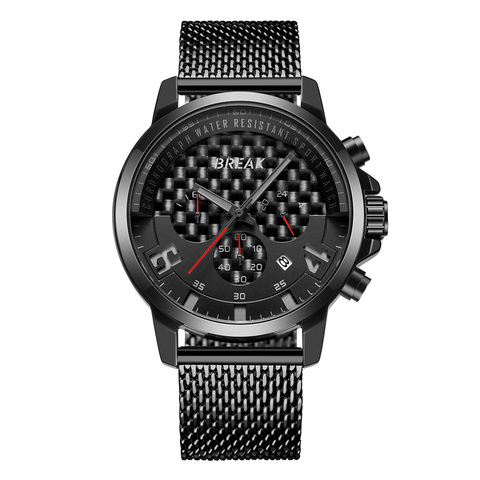 Loki Chrono Black DialRed Needle Black Steel.jpg