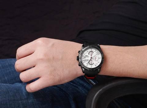 Blade Megir Watches White Dial Rubber Straps (5).jpg