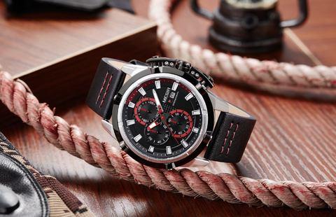 Hunter Red Chronograph Megir Watches (5).jpg