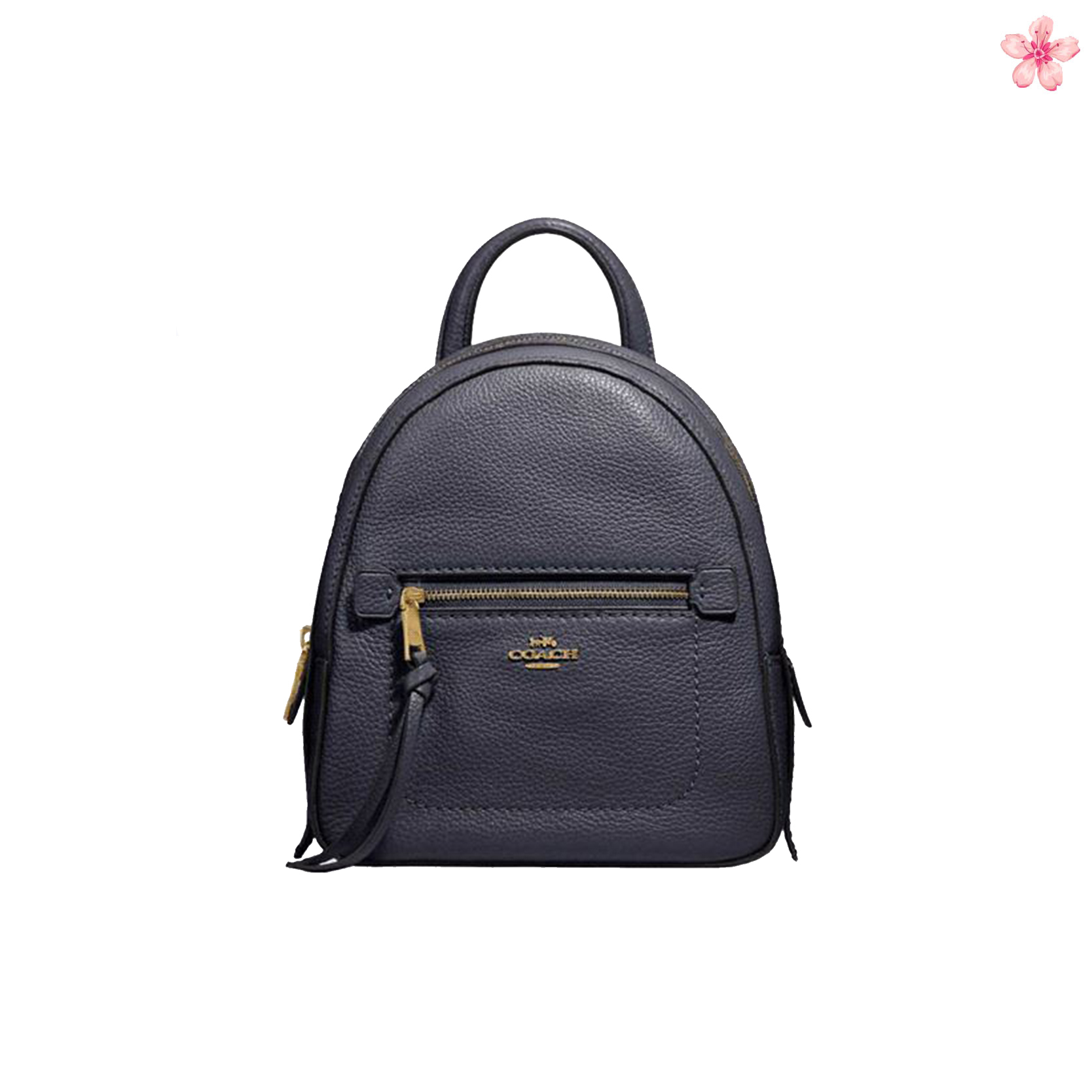 NWT Coach F30530 Andi Backpack In Pebble Leather Black//Gold