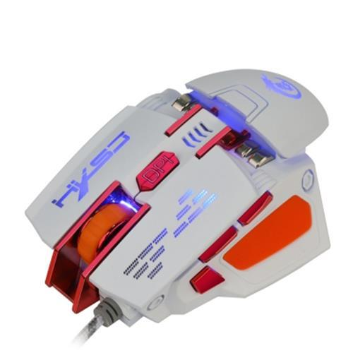 HXSJ X200 4000DPI 7D USB WIRED PROGRAMMABLE MACRO GAMING MOUSE (WHITE)