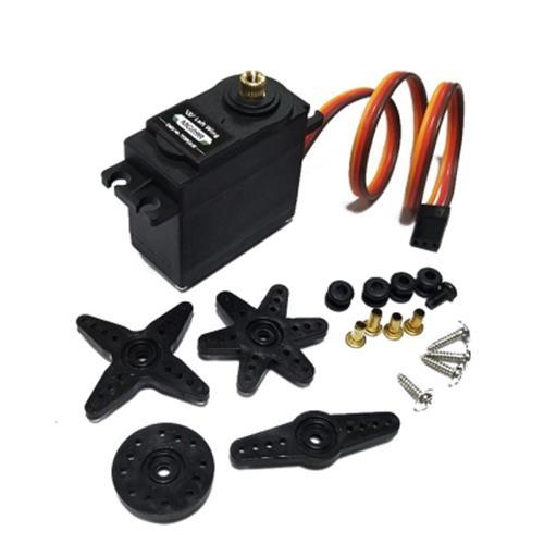 1PCS MG09R 360 DEGREE  HIGH TORQUE METAL GEAR RC SERVO MOTOR HELICOPTER CAR BOAT 13KG (BLACK)