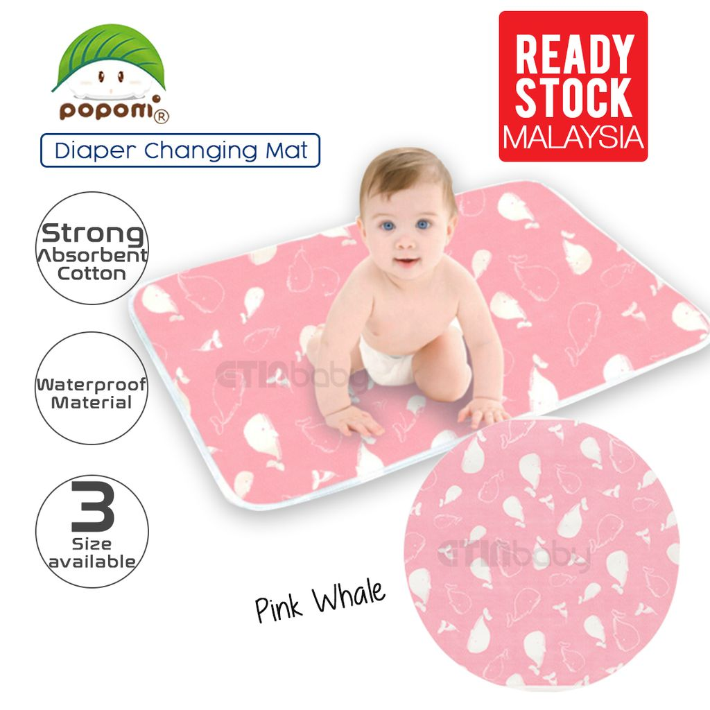 Popomi Diaper Changing Mat pink whale.jpg