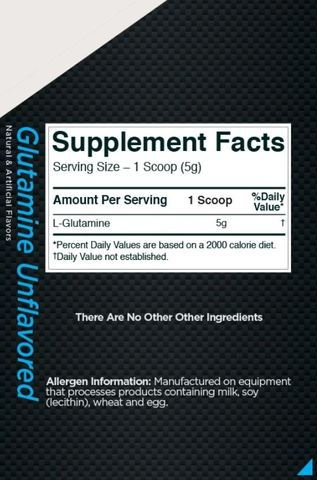 R1 Glutamine 75 Serving Unflavored Fact Malaysia Proteinlab.JPG