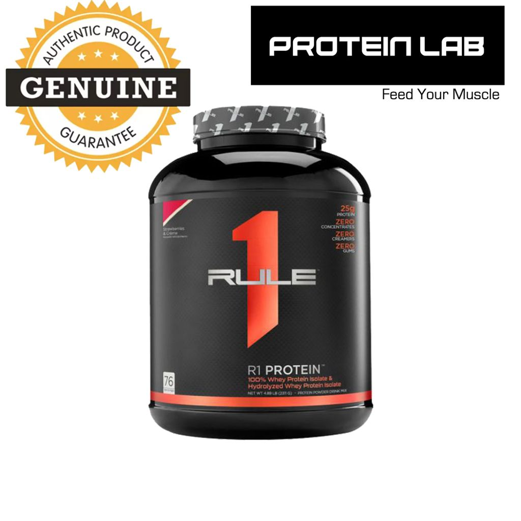 R1 100% Whey Isolate and Hydrolysate Strawberry 5lbs Malaysia Proteinlab.JPG