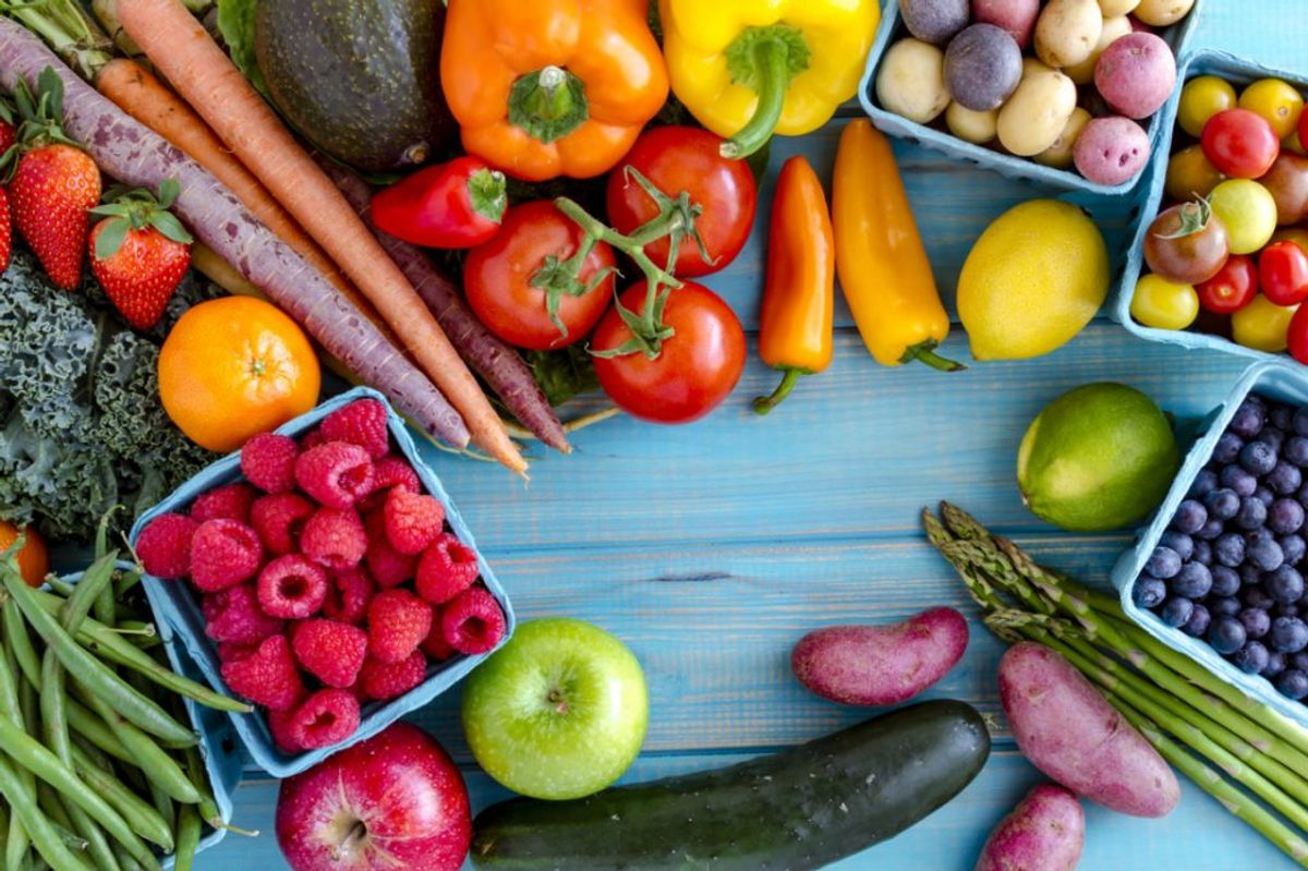 Colour and benefits of fruit and vegetables