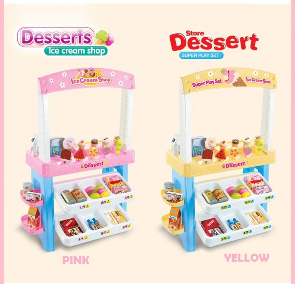 Pink Tree Wall Sticker Dessert Ice Cream Shop Playset Toysdirect Online Kids