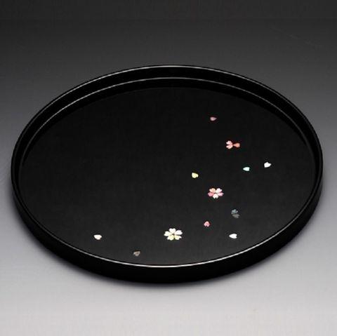 富山文創-天野漆器-80櫻花漆器圓盤(鑲貝-黑).jpeg