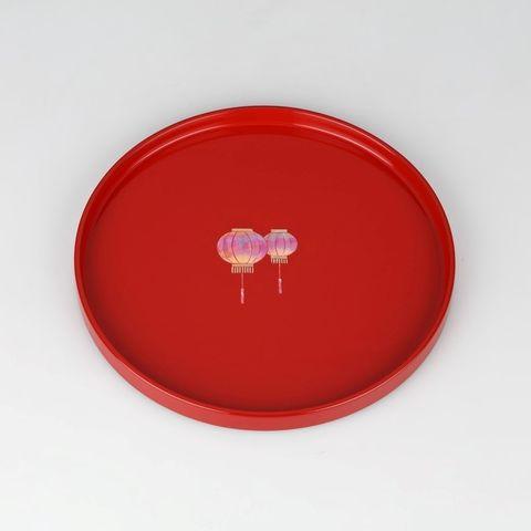 富山文創-天野漆器-80鑲貝漆器圓盤(燈籠-朱紅).jpeg