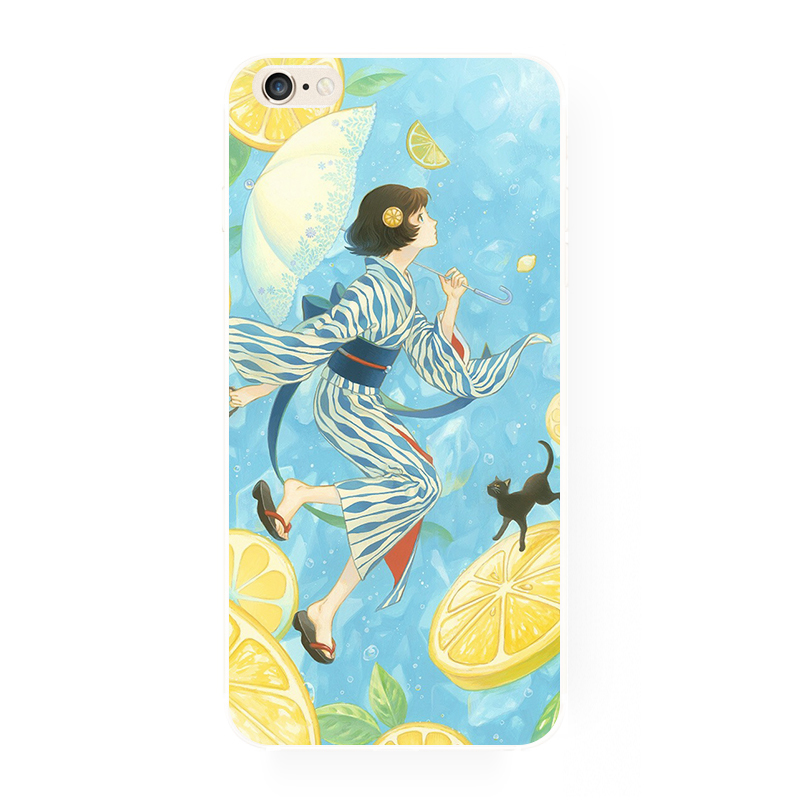 japanese girl & neko phone case.jpg