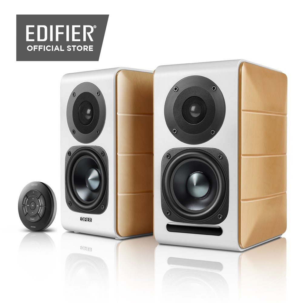 (Premium Sound) Edifier S880DB Bluetooth Optical Coaxial Active Powered Bookshelf Speakers Near-Field Gaming PC TV