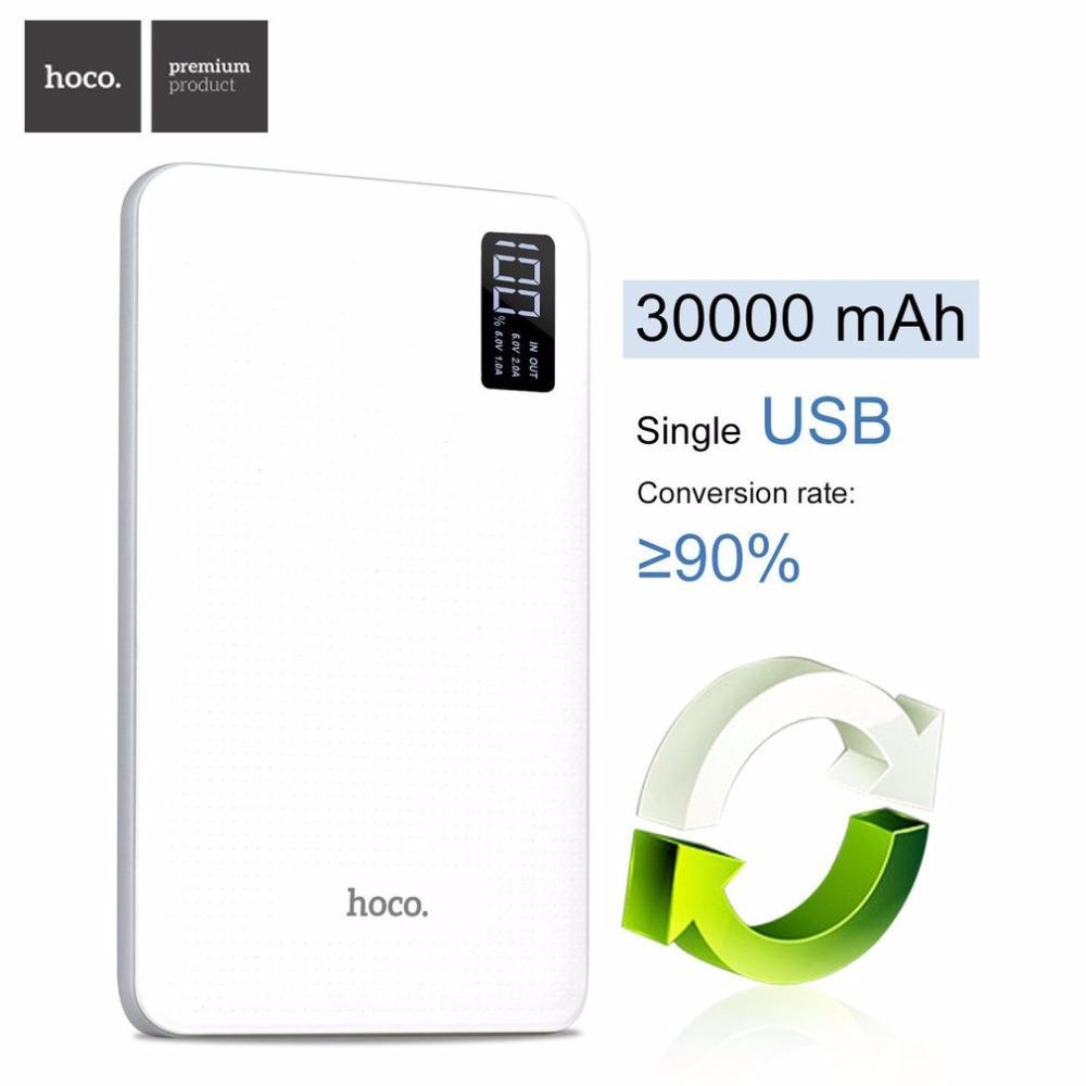 Hoco B24 30000mAh Pawker Power Bank Digital Display 3USB Port
