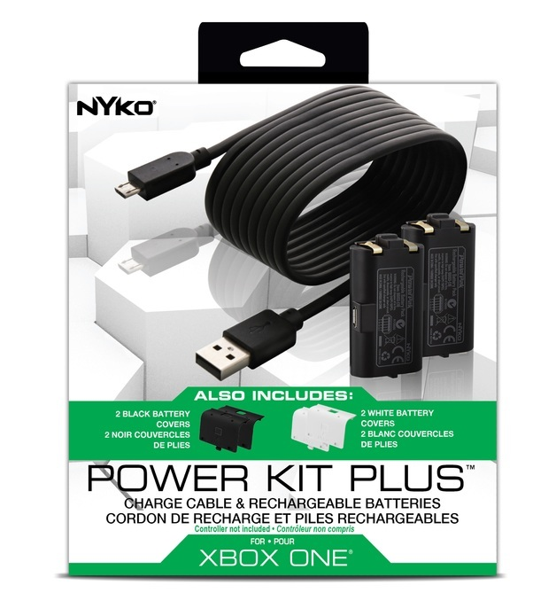 Nyko Xbox One Power Kit Plus for Controller Charge Battery Charging Cable USB Charger
