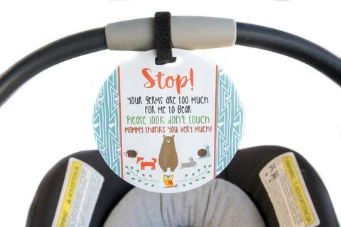 baby-gift-no-touching-car-Seat-sign-woodlands.jpg
