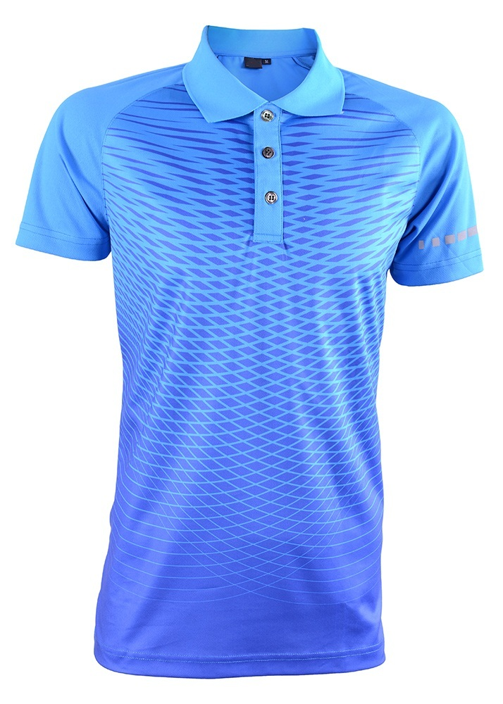 Men's Outréfit Polo Collared Reflector Sublimation Design RGT-MOF 3207 Royal Blue