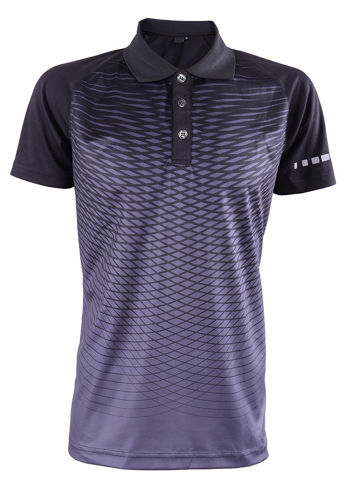 Men's Outrefit Collared Polo Reflector Sublimation Design RGT-MOF 3210 Pirate Black