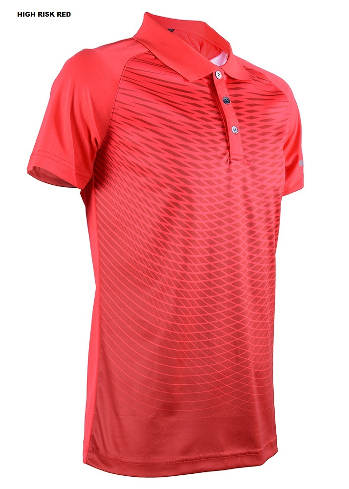 Men's Outrefit Collared Polo Reflector Sublimation Design RGT-MOF 3212 High Risk Red