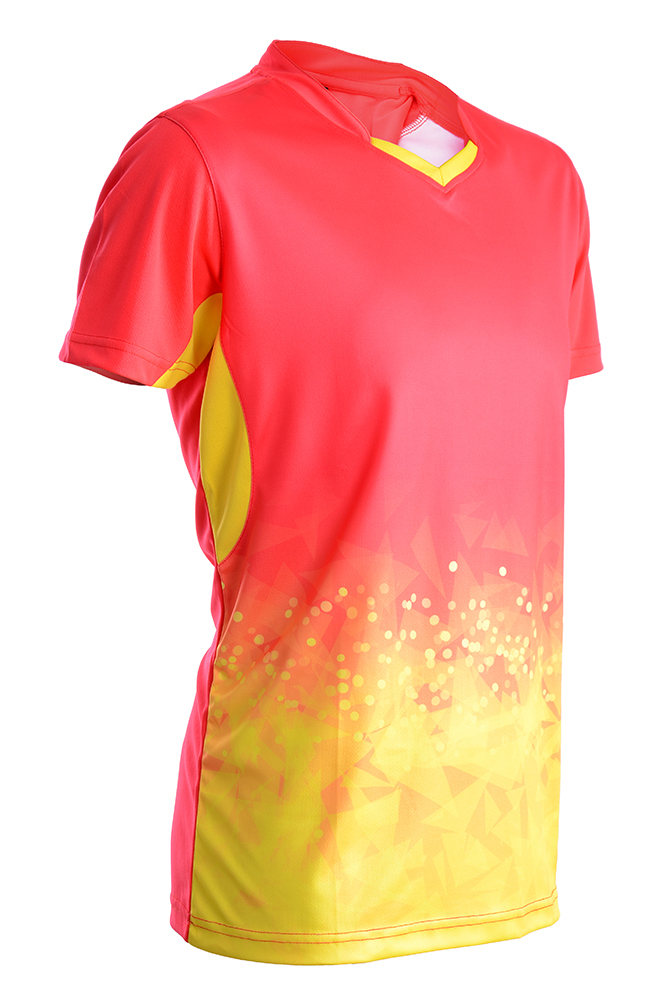 Outrefit Sublimation Neon Tech Twilight Series V Neck Unisex RGT-MOV 4012 Classic Red