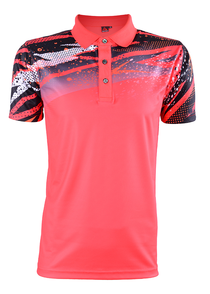 Unisex Outrefit Polo Collared Neon Tech Harimau Sublimation Design RGT-MOF 3312 Classic Red