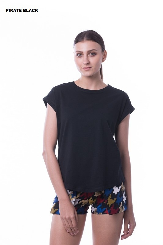 WOMEN'S LOOSE TOP RGT-WLT 10 Pirate Black