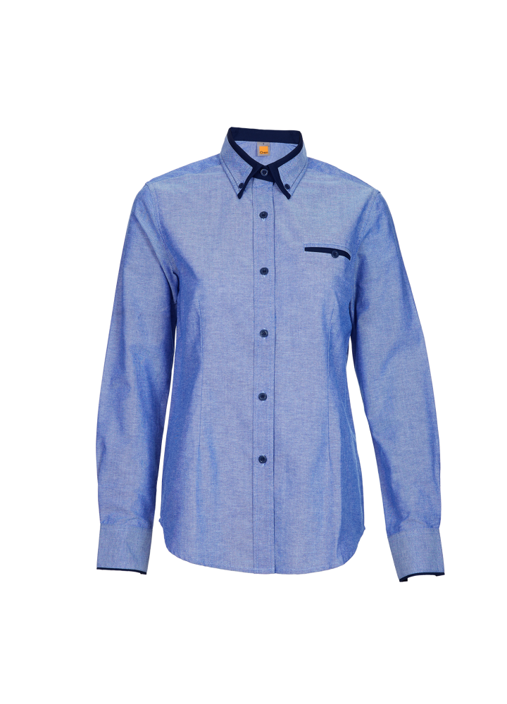 F1 Shirt / Corporate Uniform Women OSP-F1 4310 Light Blue