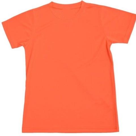 Outrefit Microfiber Kids Round Neck Fresh Orange.jpg