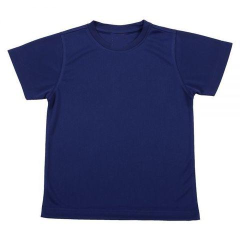 Outrefit Microfiber Kids Round Neck t shirt Navy Blue.jpeg
