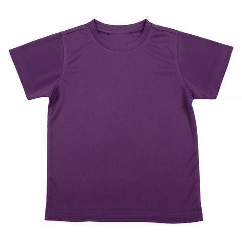 Outrefit Microfiber Kids Round Neck t shirt Blackberry Purple.jpeg