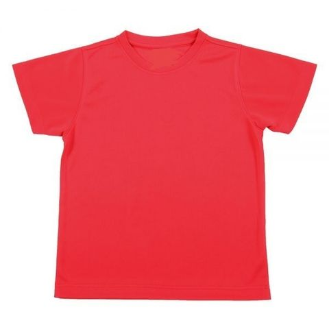 Outrefit Microfiber Kids Round Neck t shirt Tomato Red.jpeg