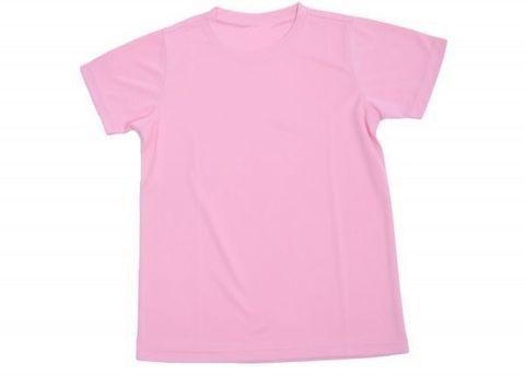 Outrefit Microfiber Kids Round Neck t shirt Light Pink.jpeg