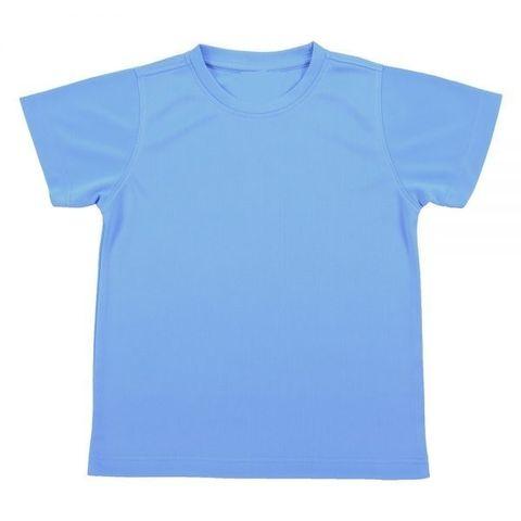 Outrefit Microfiber Kids Round Neck t shirt Ocean Blue.jpeg