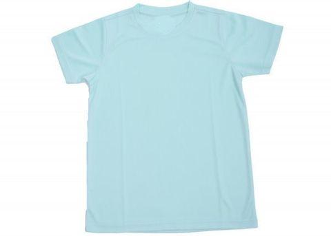 Outrefit Microfiber Kids Round Neck t shirt Icy Mint.jpeg