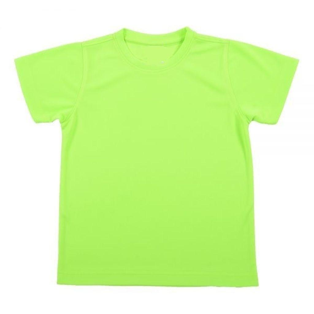 Outrefit Microfiber Kids Round Neck t shirt Volt Green.jpeg