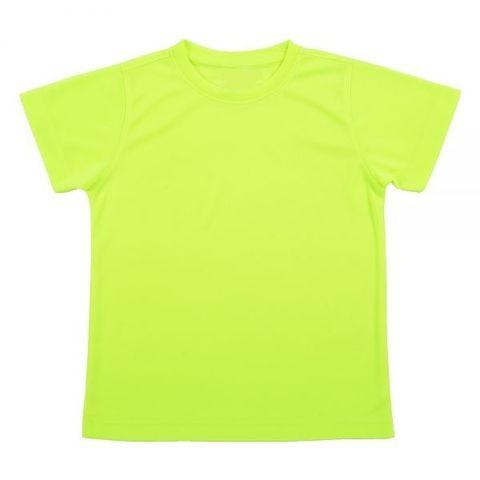 Outrefit Microfiber Kids Round Neck t shirt Neon Yellow.jpeg