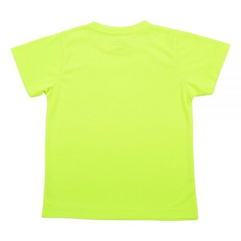 Outrefit Microfiber Kids Round Neck t shirt Neon Yellow Back View.jpeg