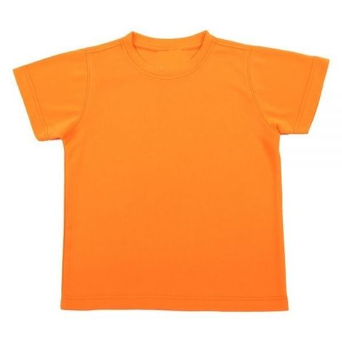 Outrefit Microfiber Kids Round Neck t shirt Safety Orange.jpeg