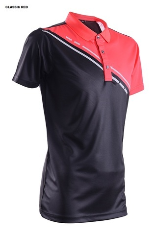 Outrefit Microfiber Reflective Polo Shirt Design MOP 4312 Black Classic Red.jpeg