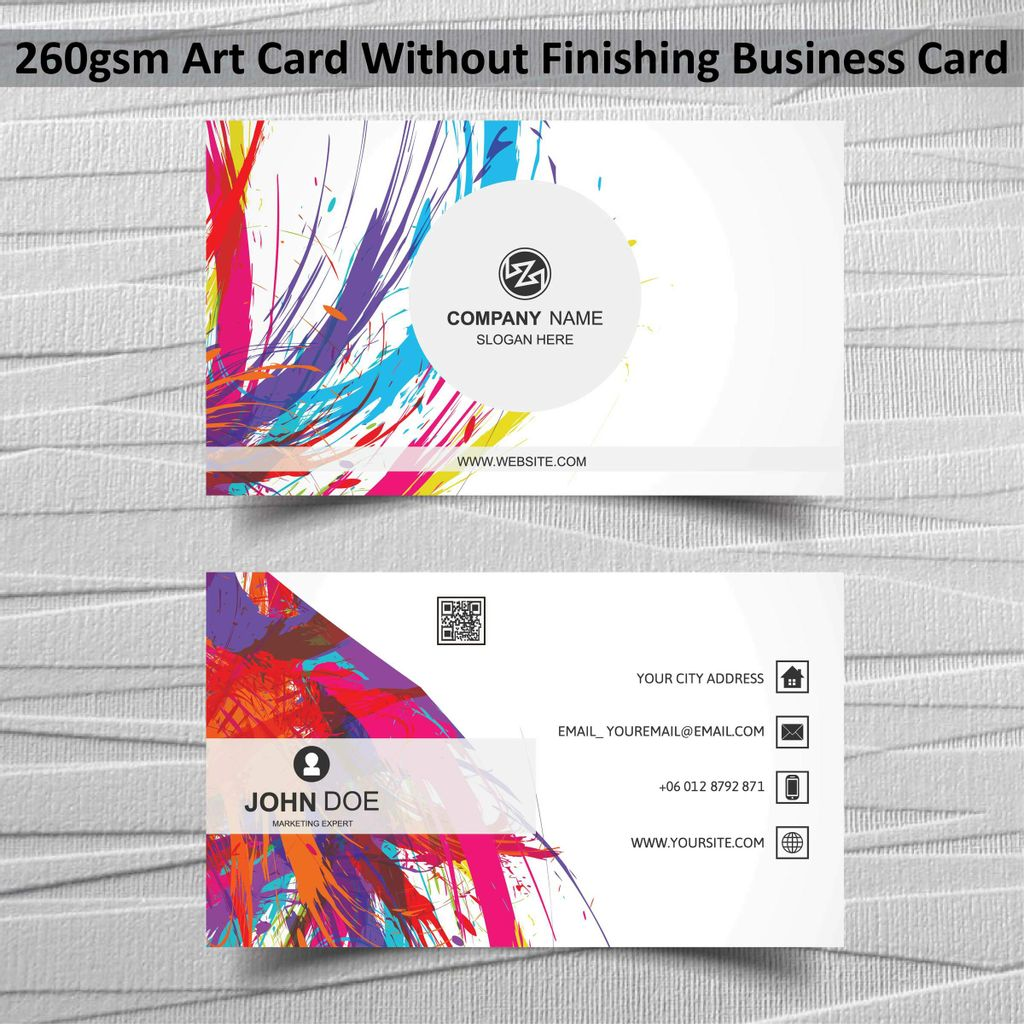 260gsm Art Card Without Finishing Business Card.jpg
