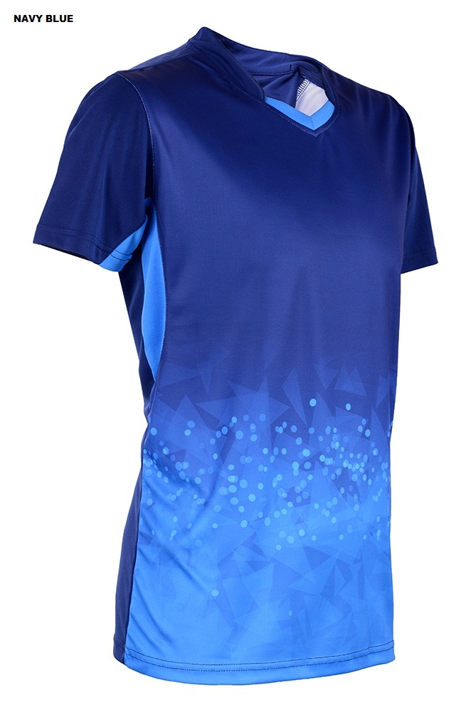 Outréfit Microfiber Sublimation Neon-Tech Twilight Design Series (V – Neck) Unisex RGT-MOV 4009 Navy Blue