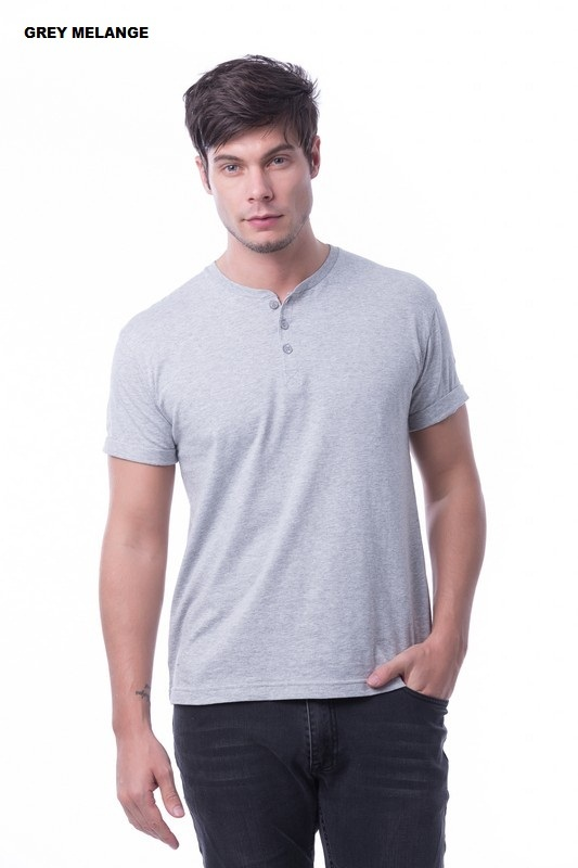 Men's Button Top RGT-MBT 05 Grey Melange