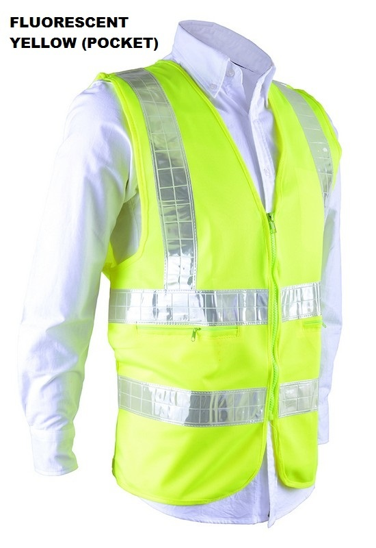 Contractor Safety Vest with Pocket Unisex RGT-SV 03 Fluorescent Yellow
