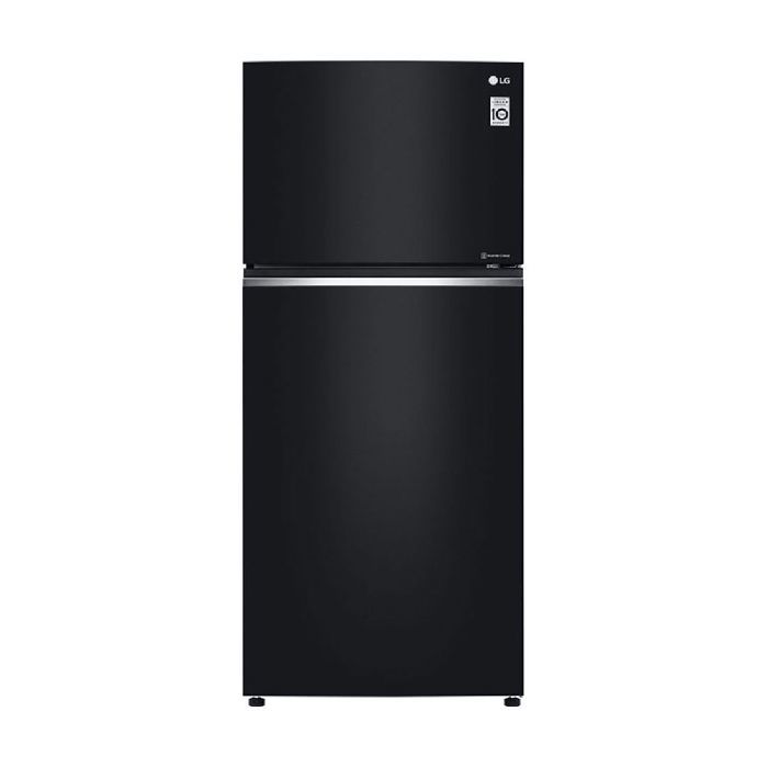 LG Nett 506L Top Freezer Refrigerator with DoorCooling+ & Fresh 0 Zone , Black Curved Glass LG-GNC702SGGC
