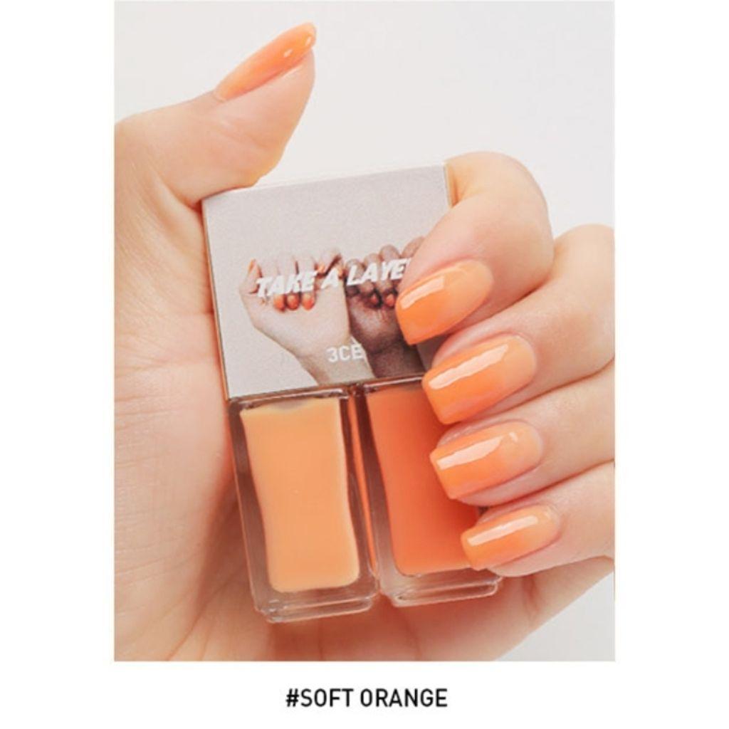 3ce Take A Layer Layering Nail Lacquer - Soft Orange F01.jpg