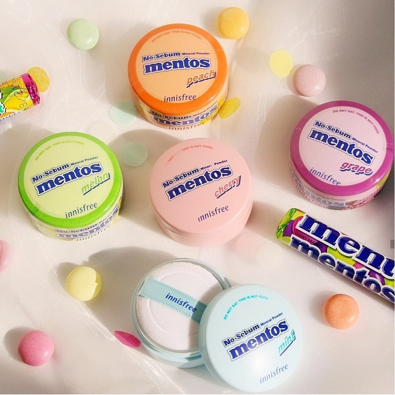 Limited Edition Mentos x Innisfree No-Sebum Mineral Powder (5g) 1.jpg